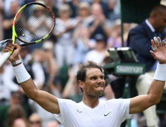 Nadal zieht mühelos ins Viertelfinale von Wimbledon ein