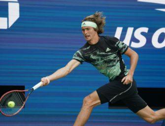 Wieder fünf Sätze: Zverev erreicht die dritte Runde der US Open