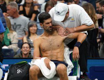 Podcast aus New York, Tag 3: Djokovic mit Schulterproblemen