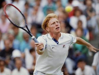 Flashback: Boris Becker und sein glücklicher Netzroller bei den US Open