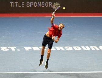 Tennis: Medwedew feiert Heimsieg in St. Petersburg