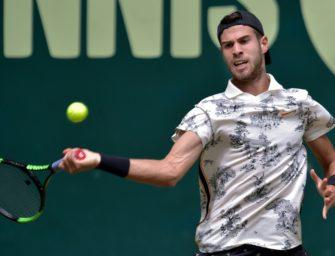 Russlands Topspieler Khachanov spielt wieder in Halle