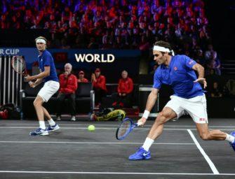 Laver Cup: Zverev siegt mit Federer im Doppel – Europa führt