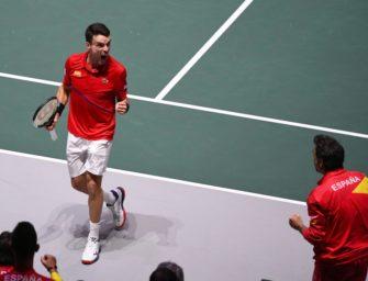 Davis-Cup-Finale: Bautista Agut bringt Spanien in Führung