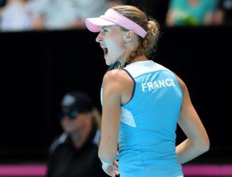 Frankreich dicht vor dem Fed-Cup-Titel: Mladenovic schlägt Barty