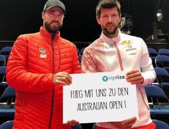 Mit Jürgen Melzer & Oliver Marach zu den Australian Open 2020