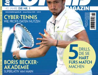 tennis MAGAZIN 1-2/2020: Daniil Medvedev – Der Aufsteiger im Interview