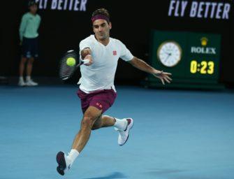 Federer muss fürs Fluchen Geldstrafe bezahlen