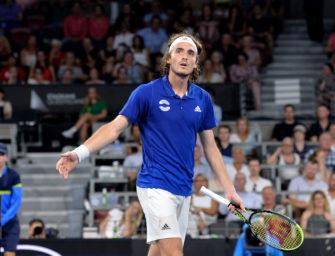 ATP Cup: Tsitsipas zerstört Schläger und verletzt seinen Vater