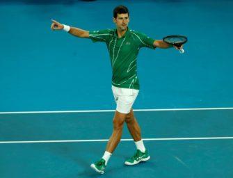 Djokovic erneut die Nummer eins – Kenin erstmals in den Top 10