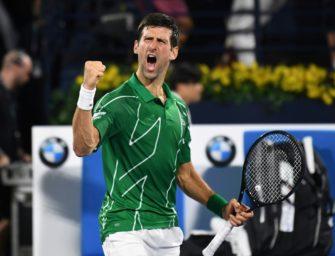 Djokovic feiert fünften Sieg in Dubai – 2020 weiter unbesiegt