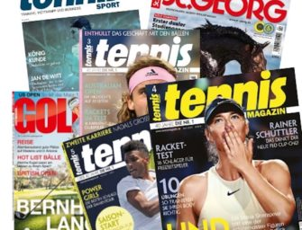 Ihr tennis MAGAZIN Care-Paket: Lesen geht immer!