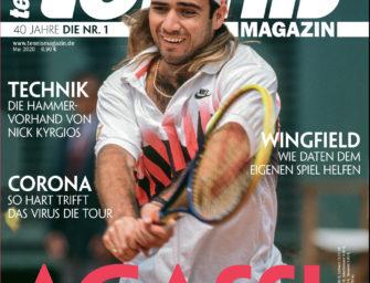 tennis MAGAZIN 5/2020: Andre Agassi – Die Lichtgestalt wird 50
