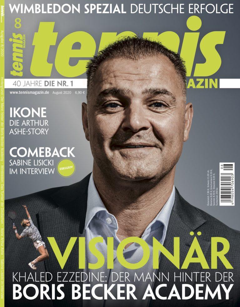 tennis MAGAZIN 8/2020 – Khaled Ezzedine: Der Mann hinter der Boris Becker-Akademie