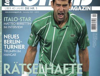 tennis MAGAZIN 9/2020 – Rätselhafte Nummer Eins