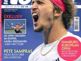 tennis MAGAZIN 10/2020 – Alexander Zverev im US Open-Finale