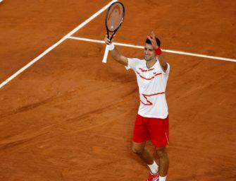 French Open: Djokovic ohne Mühe in Runde zwei