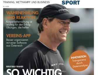 tennisSPORT 4/2020: Berufsbild Trainer – wie wichtig sind sie?