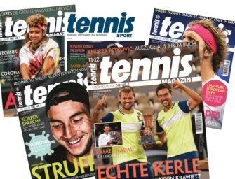 Das tennis MAGAZIN Care-Paket: Lesen gegen Lockdown-Langeweile!