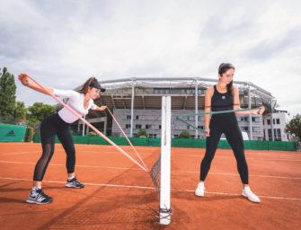 Fit auf dem Tennisplatz: Aufwärmen mit den Profis