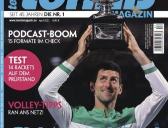 tennis MAGAZIN 4/2021: Novak Djokovic – Champion auf Rekordjagd