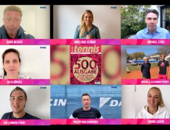 Becker, Stich, Kerber & Co. gratulieren: Unsere 500. Ausgabe ist da!