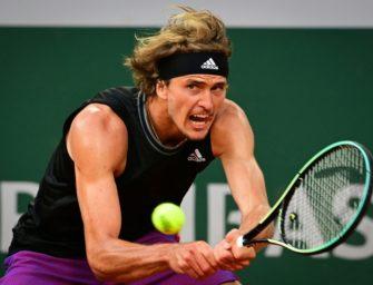 Zverev erreicht Halbfinale der French Open