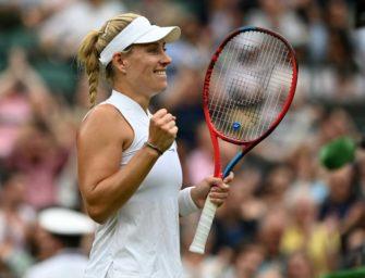 """Wimbledon-Finale für Kerber """"noch weit weg"""""""