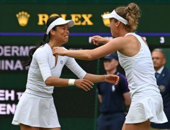 Wimbledon: Mertens und Hsieh gewinnen Doppel-Titel
