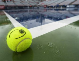 Regen beeinträchtigt Tennisturnier in Tokio