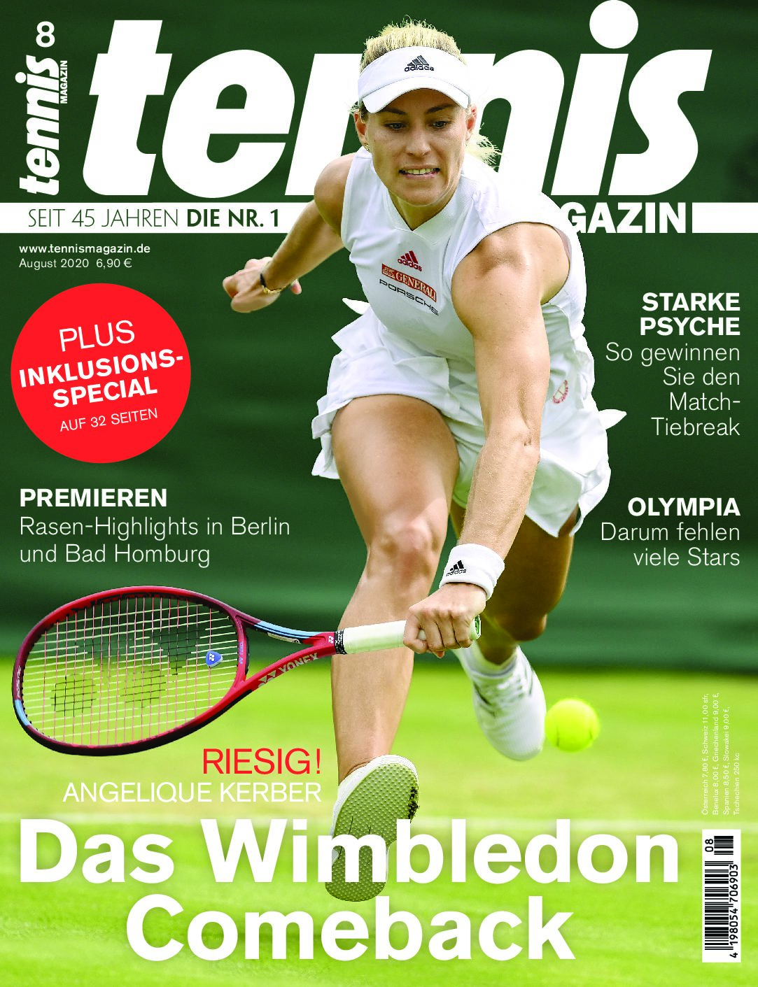 tennis MAGAZIN 08/2020: Das Wimbledon-Comeback