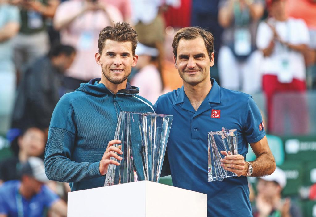 Dominic Thiem, Roger Federer