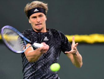 Zverev souverän ins Viertelfinale von Indian Wells