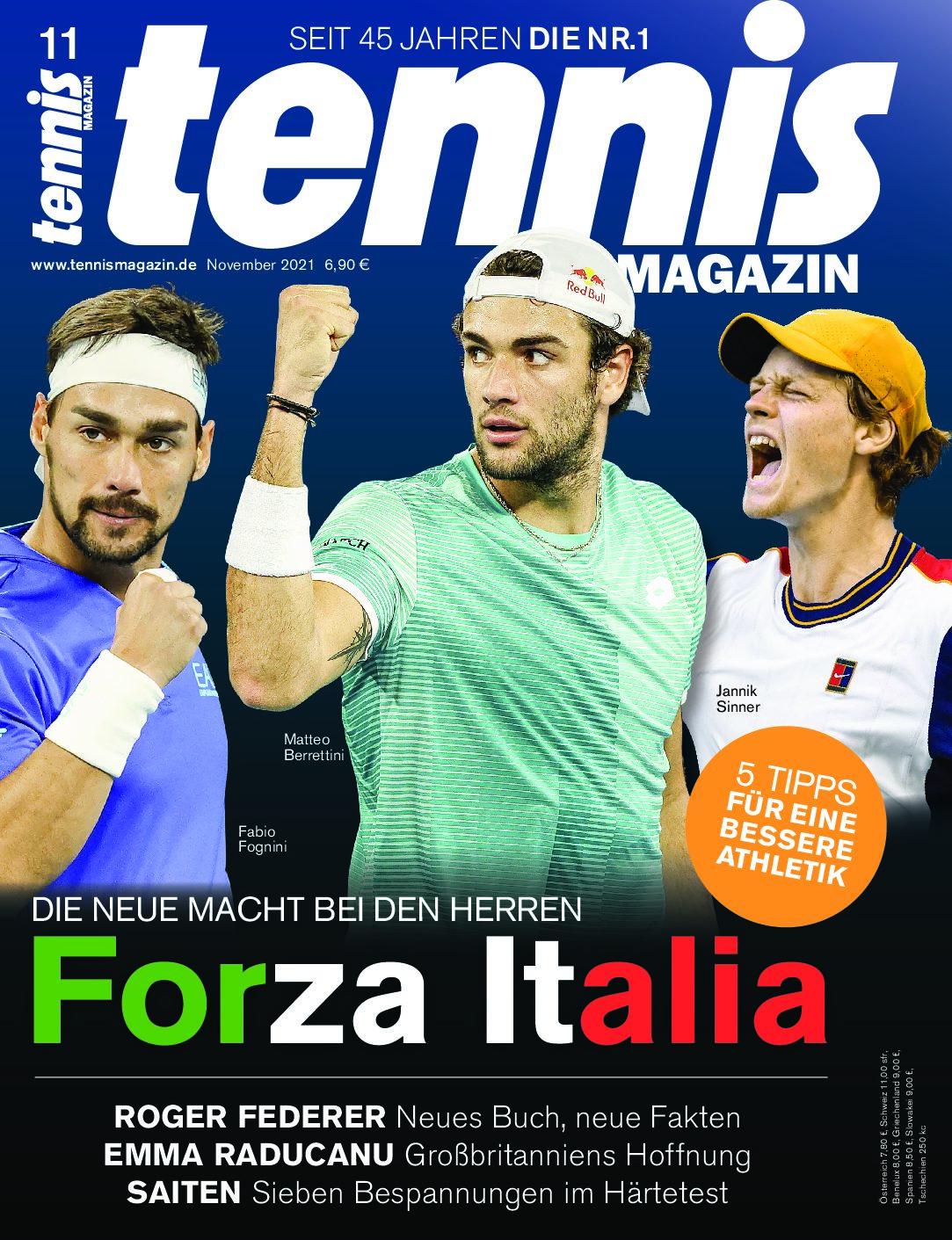 tennis MAGAZIN 11/2021: Forza Italia